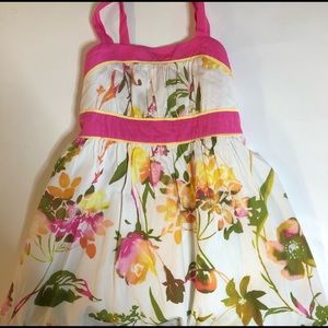 Kids girls dress size 12 color pink, white & green